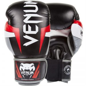 VENUM ELITE BOXING GLOVES BLACK